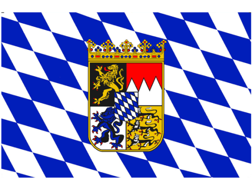 Aufkleber Bayern mit Wappen