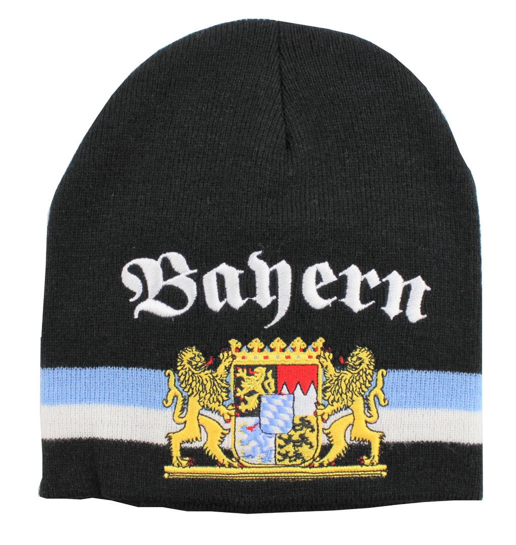 Bayern Strickmütze mit Wappen im Flags4you-shop