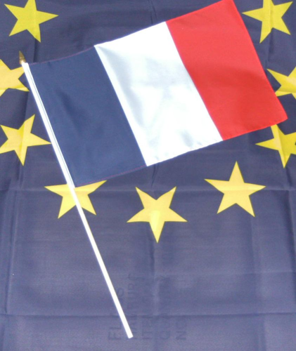 Frankreich Stockflagge 30*45 cm