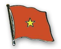 Vietnam Flaggenpin ca. 20 mm