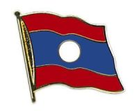 Laos  Flaggenpin ca. 20 mm