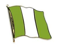 Nigeria  Flaggenpin ca. 20 mm