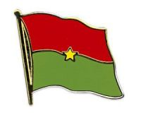 Burkina Faso  Flaggenpin ca. 20 mm