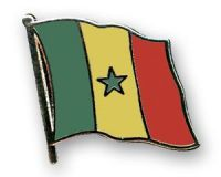 Senegal Flaggenpin ca. 20 mm