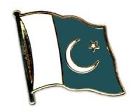 Pakistan Flaggenpin ca. 20 mm