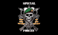 Pirat Special Forces Flagge 90*150 cm