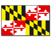 Outdoor-Hissflagge Maryland 90*150 cm