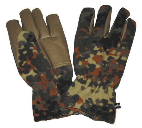 "Fleece-Fingerhandschuhe, ""Alpin"", flecktarn, winddicht"