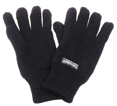 Strick-Fingerhandschuhe, Thinsulatefütterung, oliv