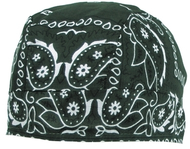 Headwrap, paisley-oliv