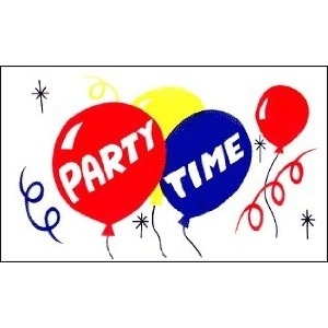 Partytime Flagge 60*90cm