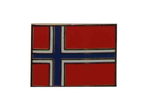 Norwegen Flaggenpin eckig