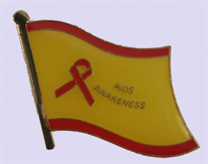 Aids Awareness Flaggenpin