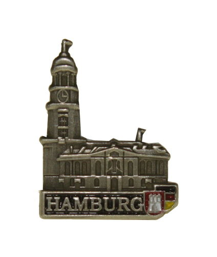 Pin Hamburg Michel Silberfarben