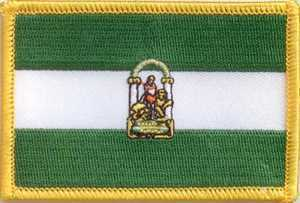 Andalusien Flaggenaufnäher
